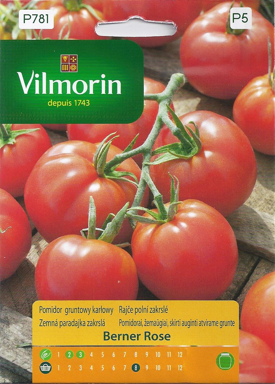 Pomidor Malinowy Karłowy Gruntowy I Pod Osłony Berner Rose 02g